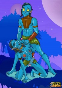 Shemale Neytiri from Avatar movie - Tranny Na'vi Futanari Sex Cartoons