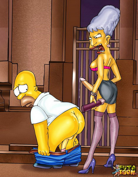Futanari futa comics with Homer Simpson