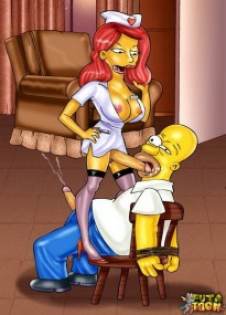 Futanari futa comics with Homer Simpson Marge Simpson shemale Shemale Porn Comics