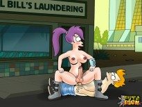 Futurama's t-girls in action! - Turanga Leela shemale